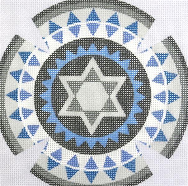 Yarmulka Gears 4 Needlepoint Kit or Canvas Jewish//Judaica