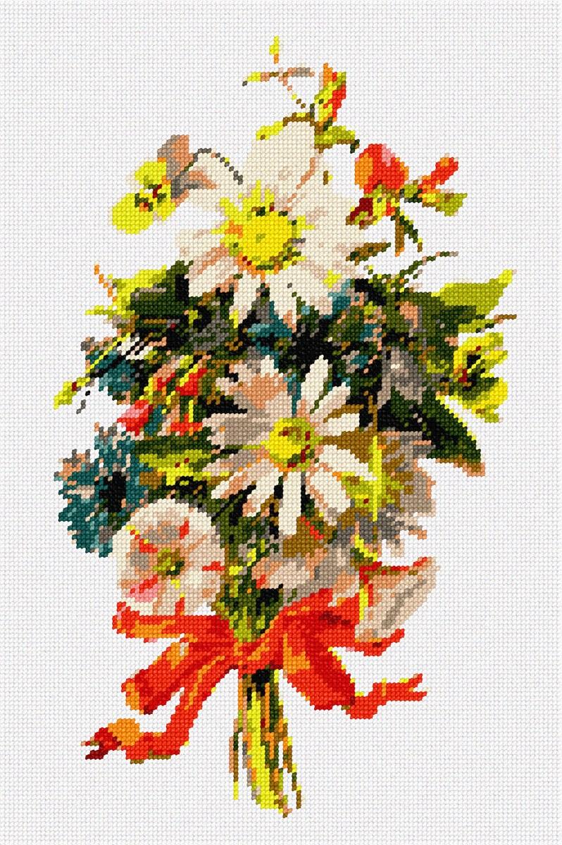 pepita Orange Flowers Needlepoint Kit