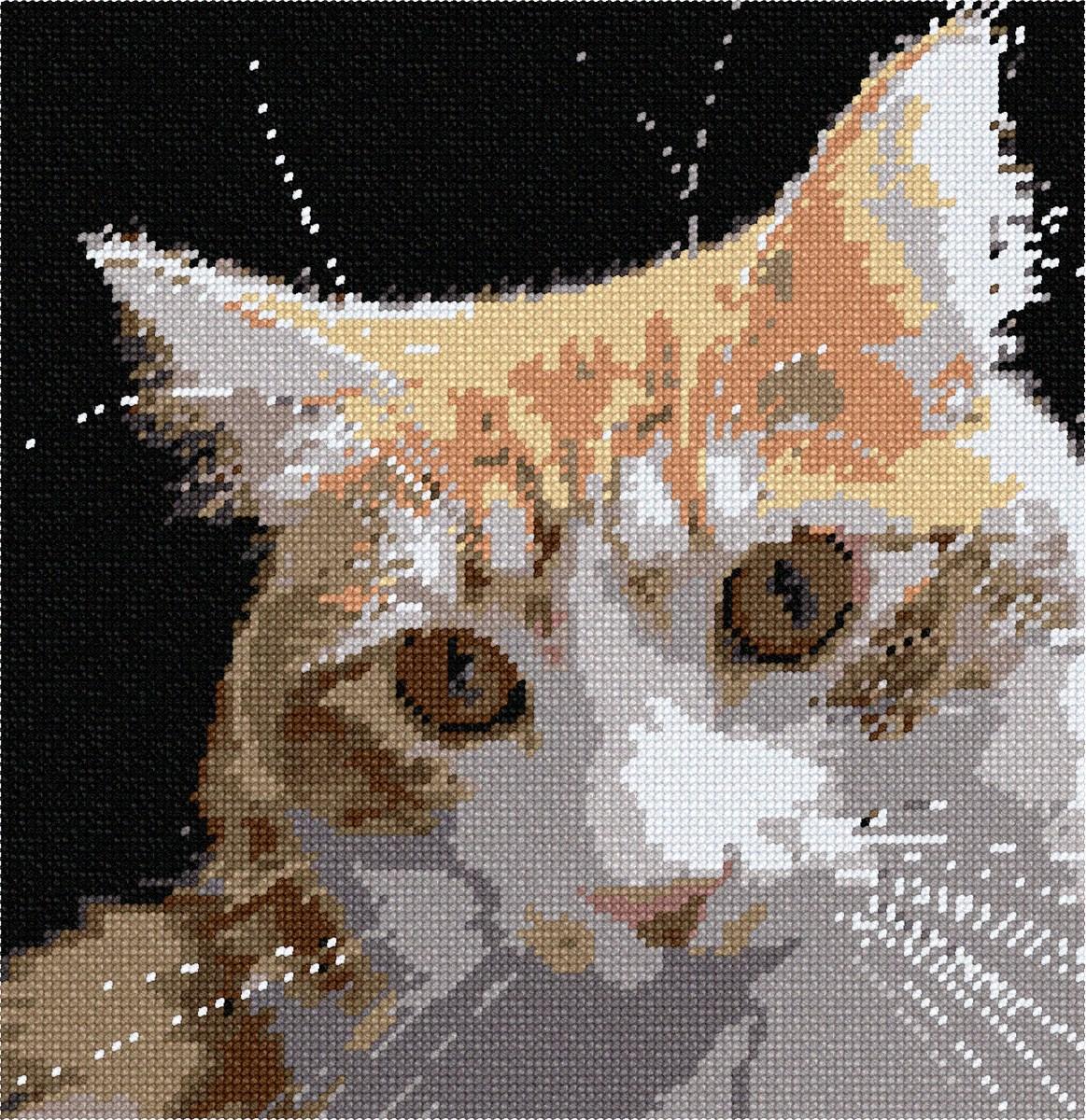 pepita Cat Sunset Needlepoint Canvas
