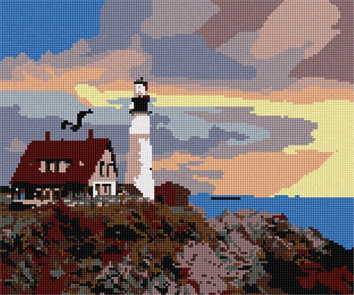 Pepita Lighthouse On The Sea Needlepoint Kit