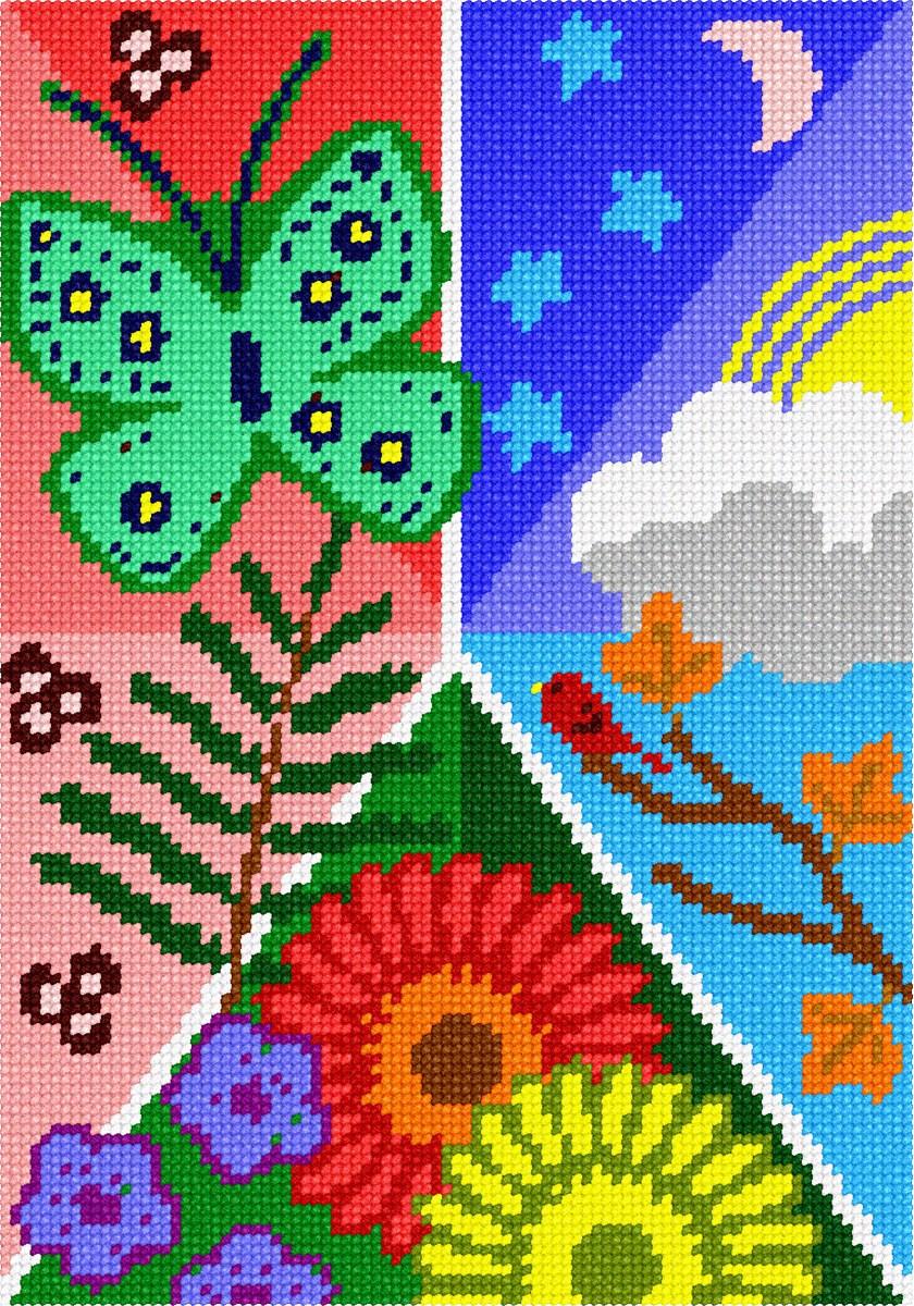 Grevillea  Needlepoint Kit or Canvas Floral//Flower//Nature
